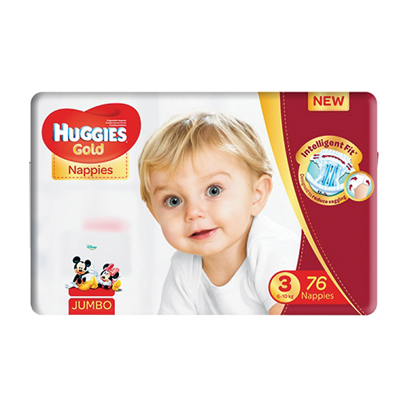Huggies Gold Nappies Jumbo Pack