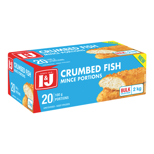 I&J Crumbed Fish Portions 2kg