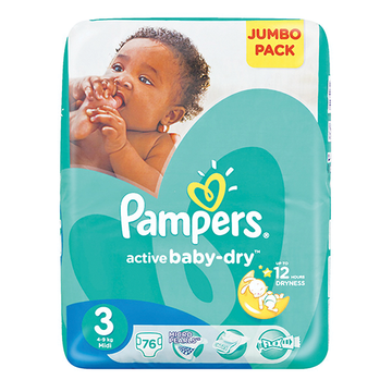 Pampers Active Baby Dry Jumbo Pack