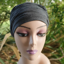 Load image into Gallery viewer, Bamboo Ruffle Cap in Charcoal - Wigsisters