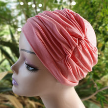 Load image into Gallery viewer, Bamboo Ruffle Cap in Coral - Wigsisters