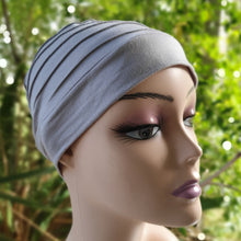 Load image into Gallery viewer, Bamboo Pleated Cap in Smoke Grey - Wigsisters