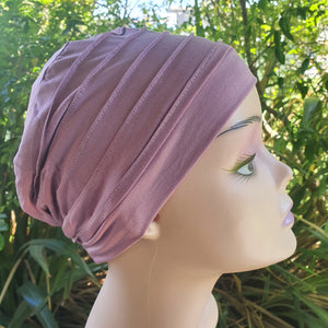 Bamboo Pleated Cap in Rose Pink - Wigsisters