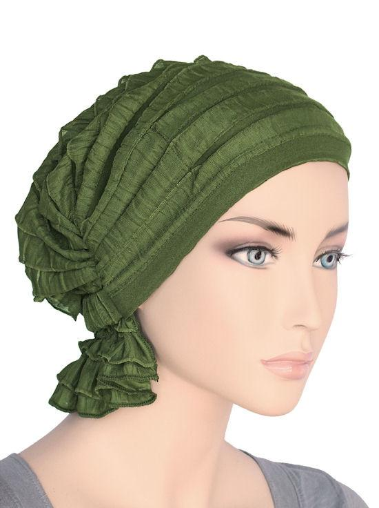 Abbey in Ruffle Green Olive - Wigsisters