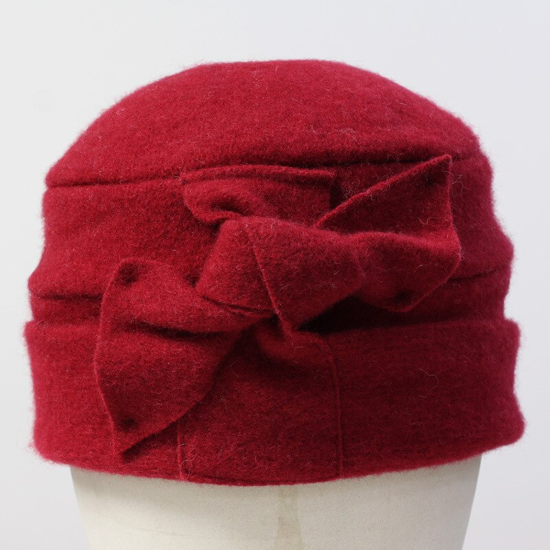 Woollen Dome Beanie - Red - Wigsisters
