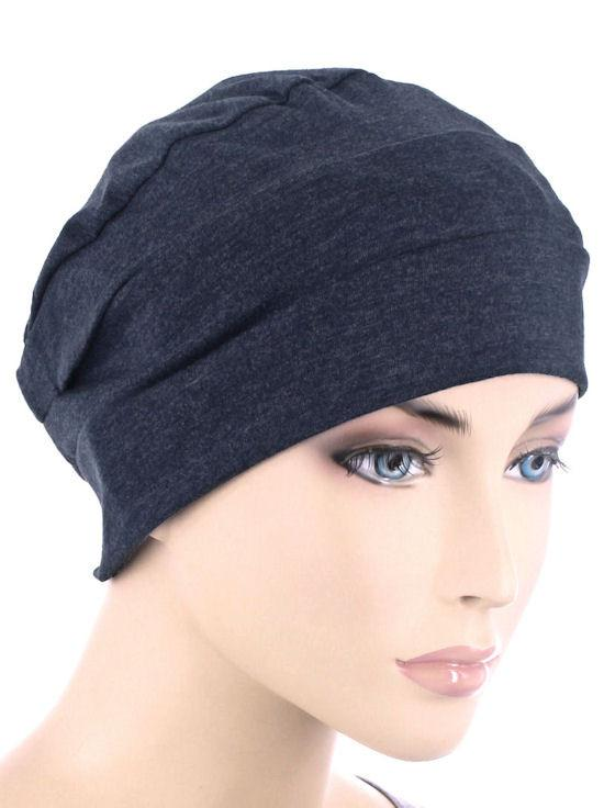 Cloche Cap in Dark Denim - Wigsisters