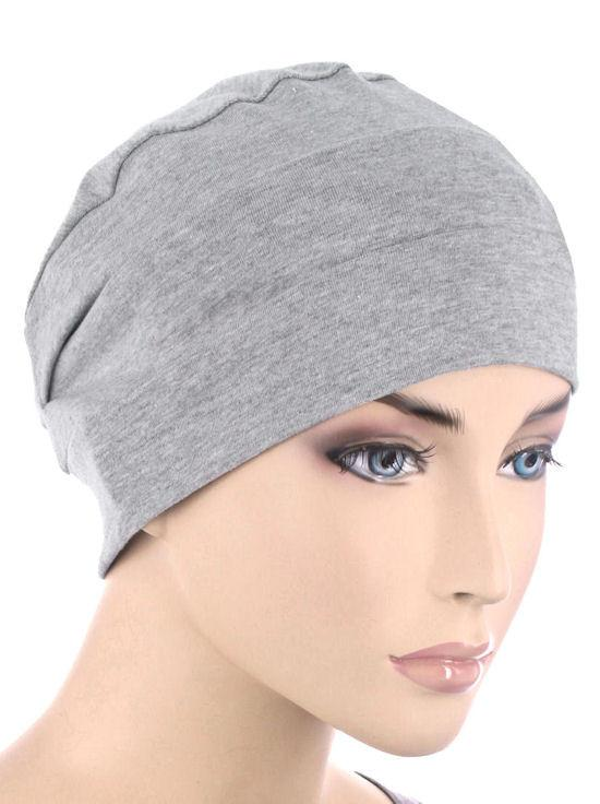 Cloche Cap in Heather Grey - Wigsisters