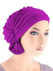 Abbey Cap in Ruffle Plum - Wigsisters