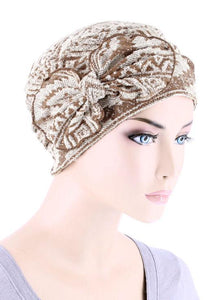 Cloche with Bow in Tan Navajo - Wigsisters
