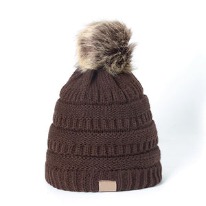 Pom Pom Beanie in Coffee - Wigsisters