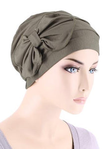 Bamboo Cloche with Bow in Coco Brown - Wigsisters