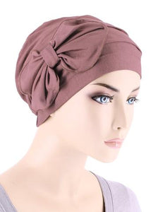 Bamboo Cloche with Bow in Rose Pink - Wigsisters