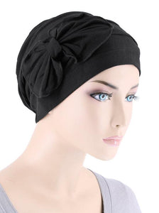 Bamboo Cloche with Bow in Onyx Black - Wigsisters