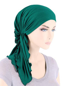 Bamboo Bella scarf in Emerald Green - Wigsisters