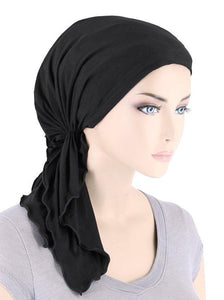 Bamboo Bella Scarf in Onyx Black - Wigsisters