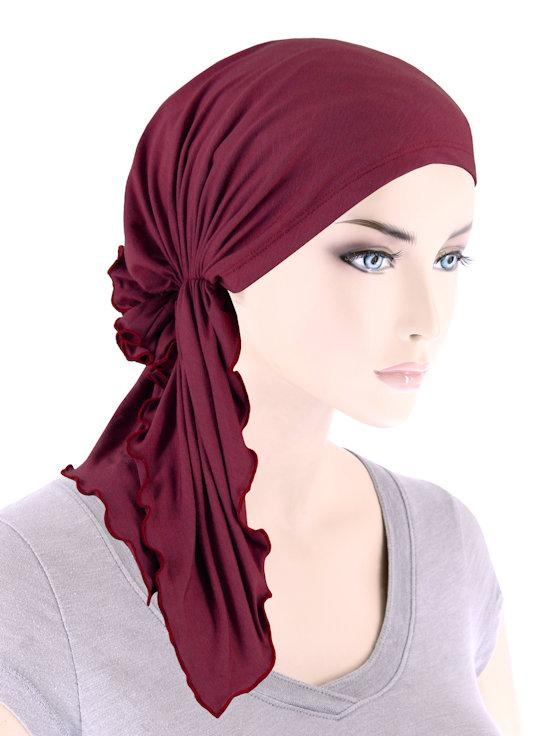 Bamboo Bella Scarf in Burgundy - Wigsisters