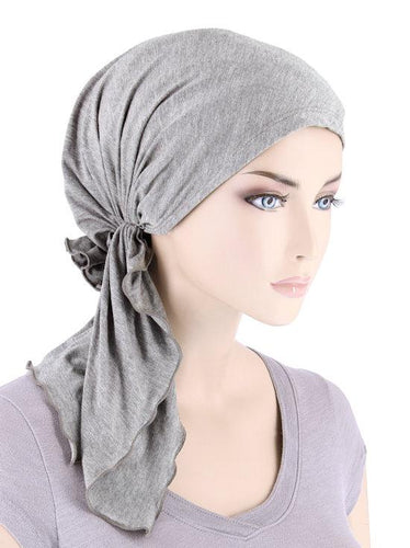 Bella Headscarf in Heather Grey Bamboo - Wigsisters