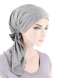 Bamboo Bella Scarf in Heather Grey - Wigsisters