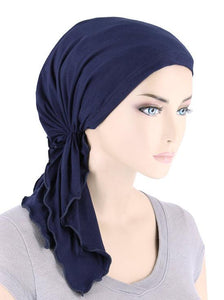 Bamboo Bella Scarf in Navy - Wigsisters