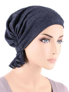 Abbey Cap in Denim - Wigsisters