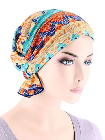 Abbey Cap in Tropical Blue Sunset - Wigsisters