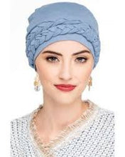 Load image into Gallery viewer, Solid Double Braid 2 Piece Turban