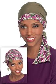 In A Snap Reversible Head Wrap Bamboo Scarf Cap - Wigsisters