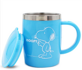 Portable Cartoon snoopy Coffee Mugs With Lid 420ml stainless steel liner Double Insulated cups and mugs Thermocup for Gift