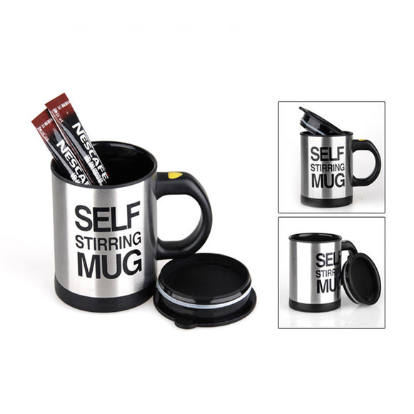 300ml Mugs Automatic Electric Lazy Self Stirring Mug Cup Coffee Milk Mixing Mug Smart Stainless Steel Juice Mix Cup Drinkware