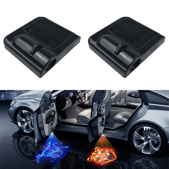 Wireless LED Car Door Welcome Laser Projector Logo Ghost Shadow Night Light for Volkswagen Ford BMW Toyota Hyundai Kia Audi