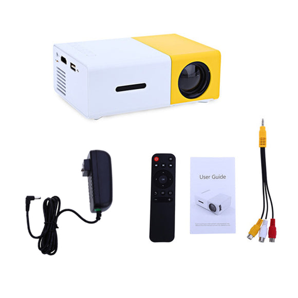 LED Projector 600 lumen 3.5mm Audio 320x240 Pixels HDMI USB Mini Projector Home Media Player