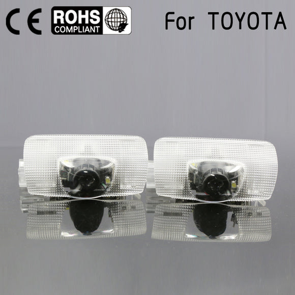 car Led door logo projector welcome light laser Door light fit For Toyota Highlander Camry corolla Reize crown Prado Prius