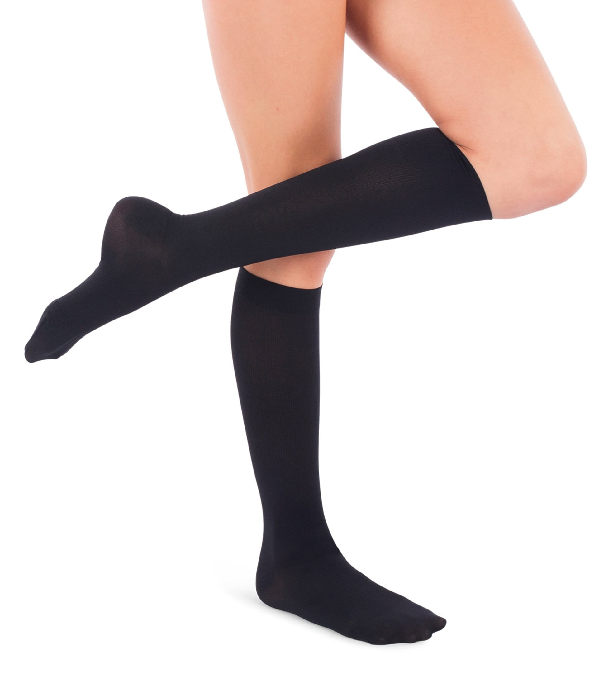 Womens Compression Socks, 15-20mmHg Microfiber 116