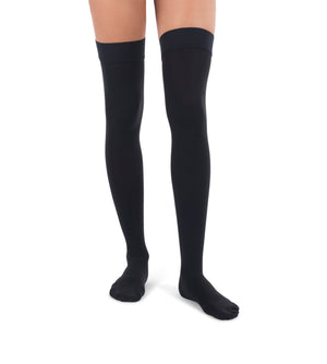 Black Surgical Weight, Closed Toe High Stockings, 20-30mmHg