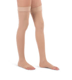 Thigh High Compression Stockings, 20-30mmHg Surgical Weight Open Toe 241