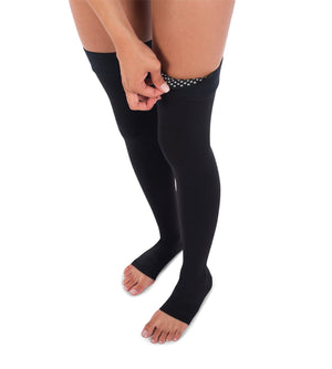 Compression Thigh High Stockings, 20-30mmHg Surgical Weight Open Toe 241