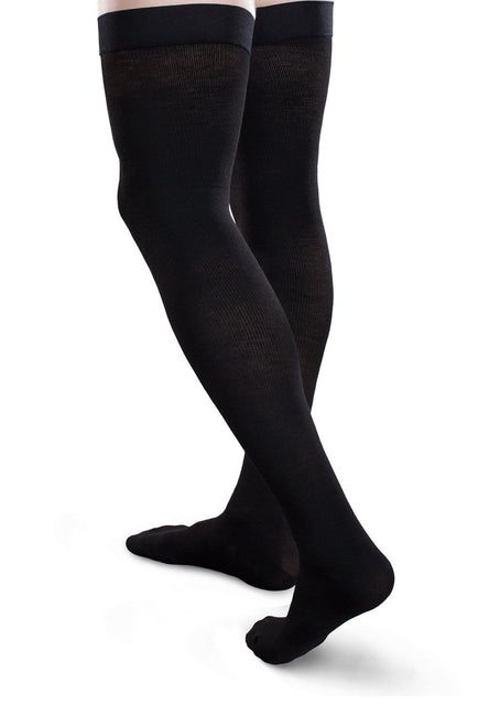 Therafirm Core-Spun Compression Thigh High Socks 30-40 mmHg