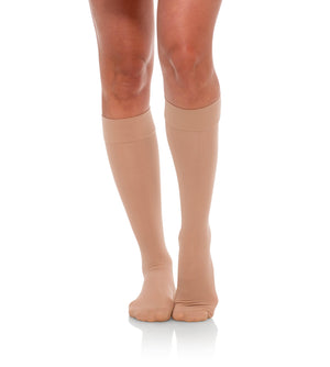 Compression Knee High Stockings, 20-30mmHg Sheer Closed Toe 232