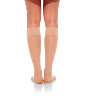 Compression Knee High Stockings, 20-30mmHg Sheer Open Toe 233