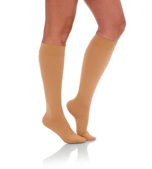Compression Knee High Stockings, 15-20mmHg Opaque Closed Toe 130