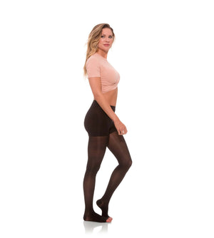 Compression Womens Pantyhose, 15-20mmHg Sheer Open Toe 145
