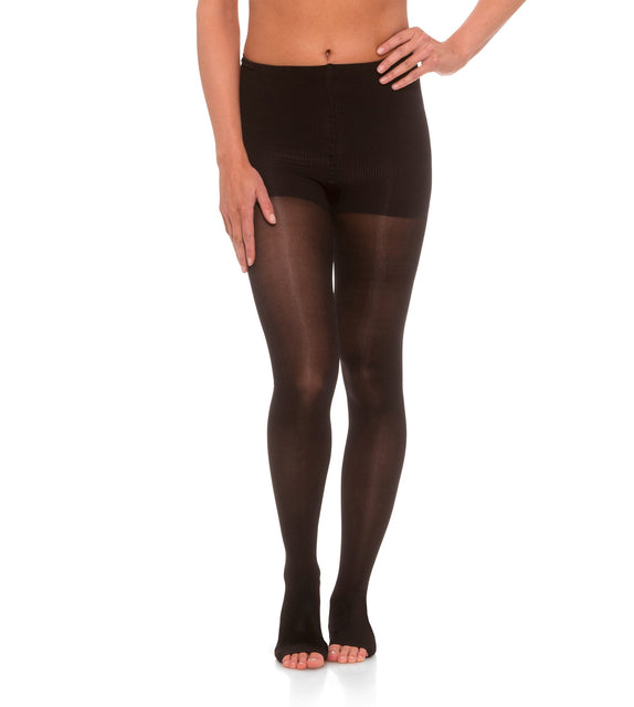 Womens Compression Pantyhose, 20-30mmHg Sheer Open Toe 245