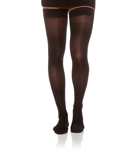 Thigh High Compression Stockings, 15-20mmHg Sheer Closed Toe 145