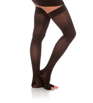 Thigh High Compression Stockings, 20-30mmHg Sheer Open Toe 245