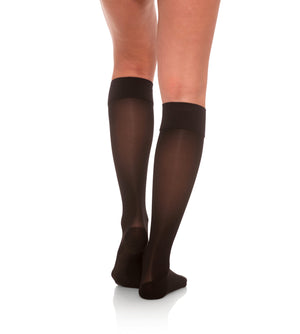 Knee High Compression Stockings, 15-20mmHg Sheer Open Toe 133