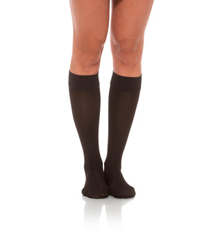 Knee High Compression Stockings, 15-20mmHg Sheer Closed Toe 132
