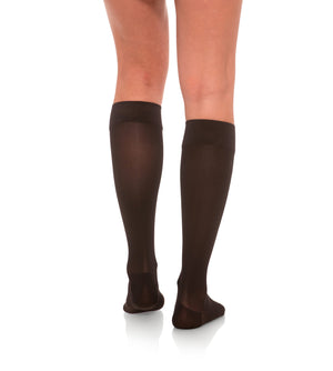 Compression Knee High Stockings, 15-20mmHg Sheer Closed Toe 132
