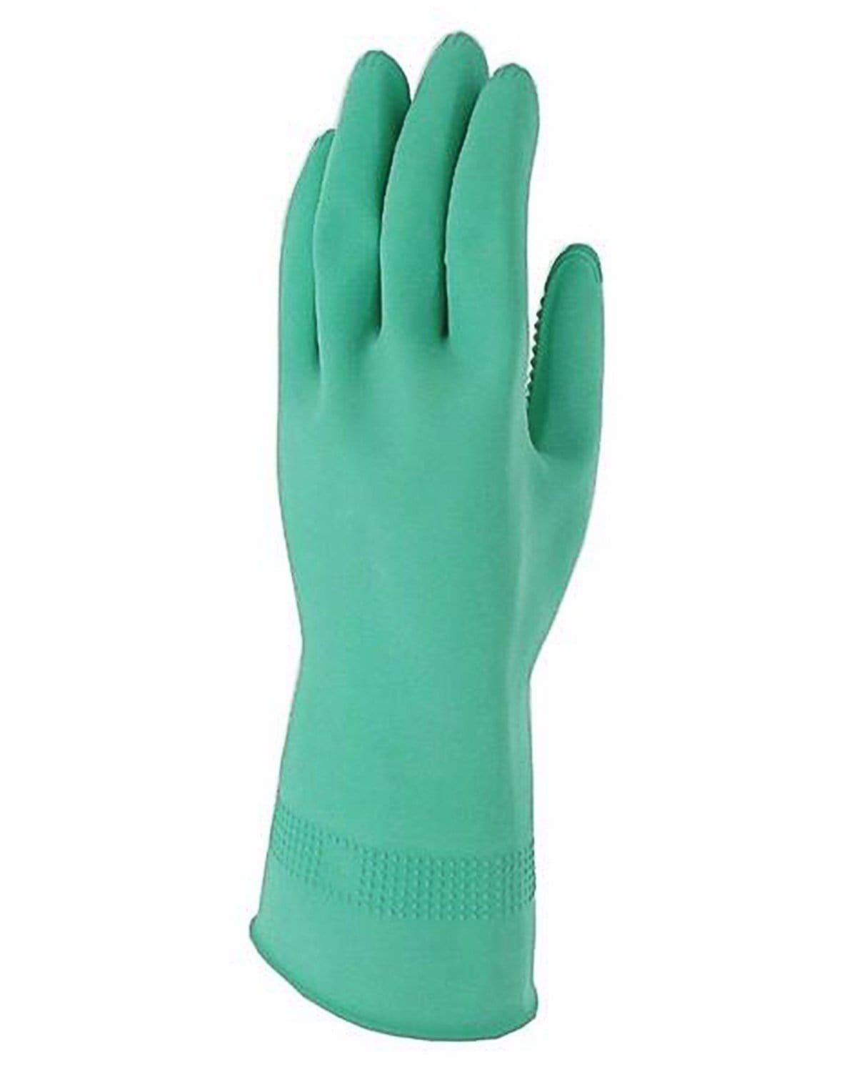 ridged rubber gloves donning Green Gloves Application M