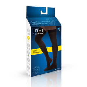 Thigh High Compression Stockings, 30-40mmHg Sheer Closed Toe 345