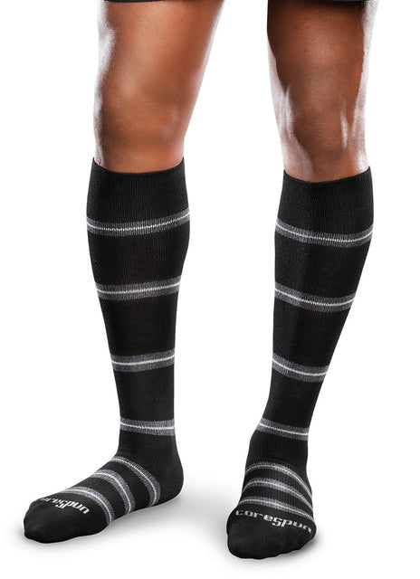 Therafirm Core-Spun Patterned Compression Knee High Socks - Merger 15-20 mmHg